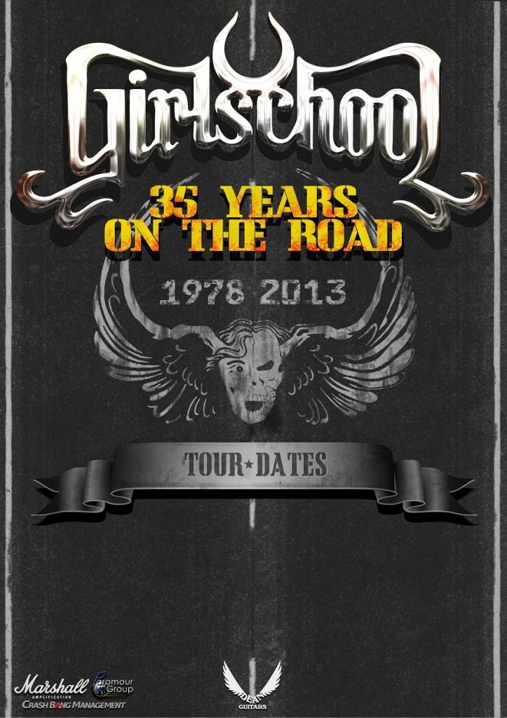 Girlschool 35th Anniversary Posterweb