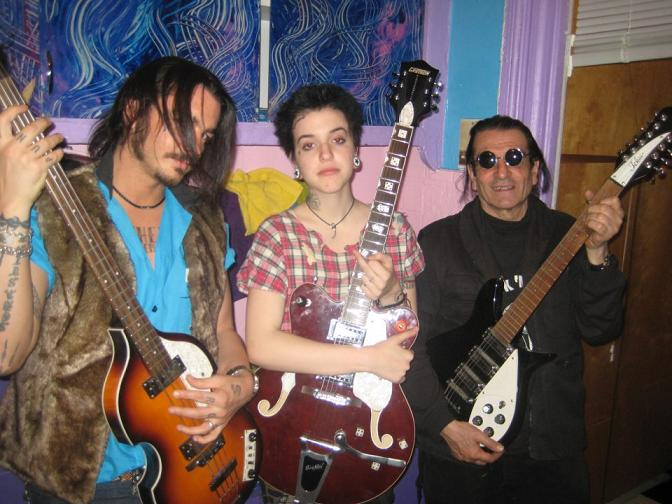 Dionna's new band, with Marzio Dal Monte and David Peel