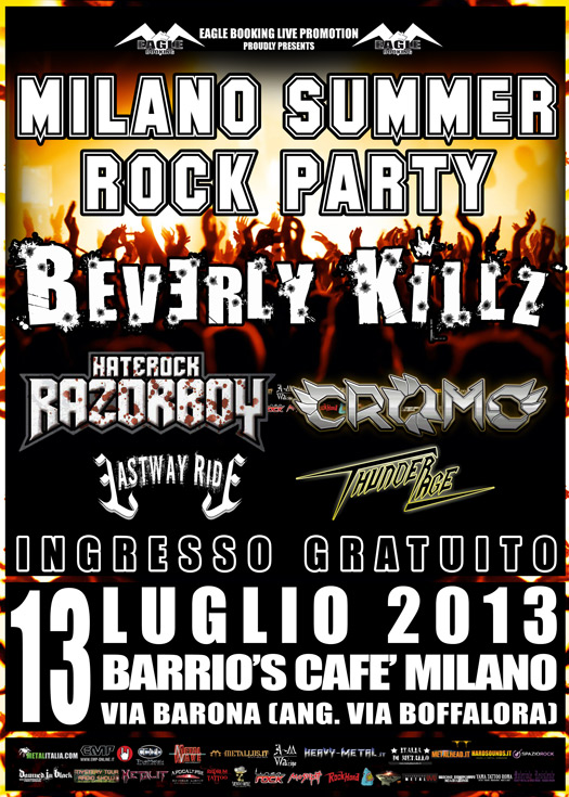 Milano summer rock party promo