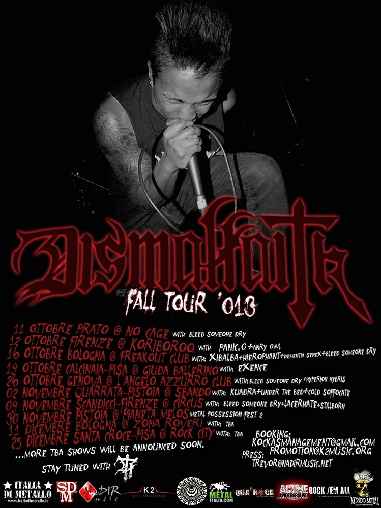 dismal faith fall tour 013 flyer