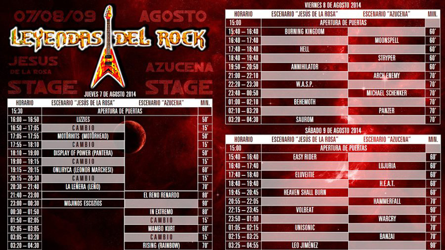 Main stages_Leyendas 2014