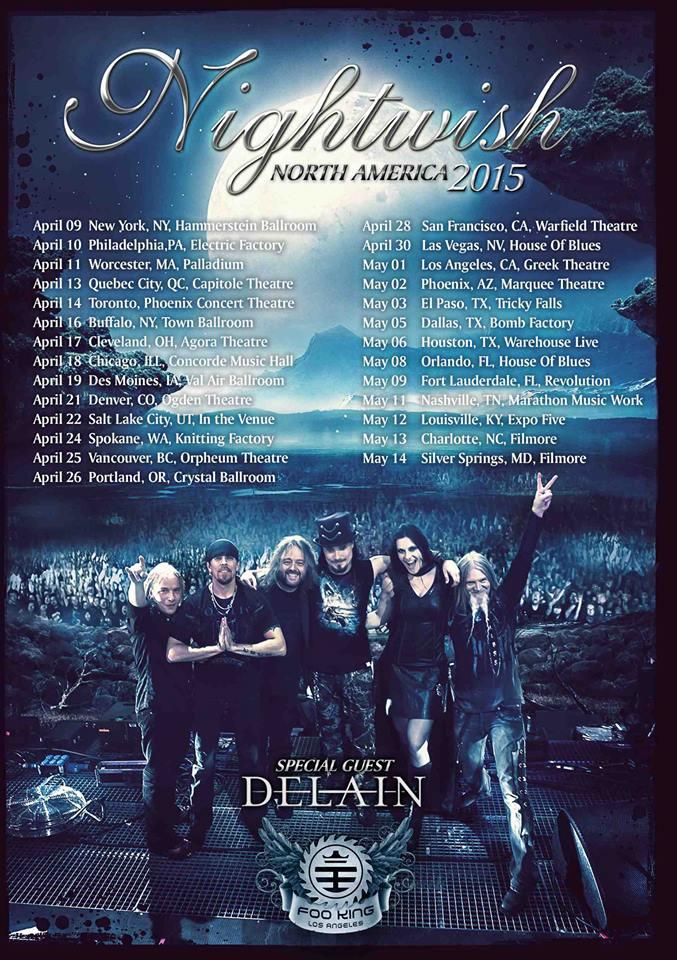 Nightwish tour 2015