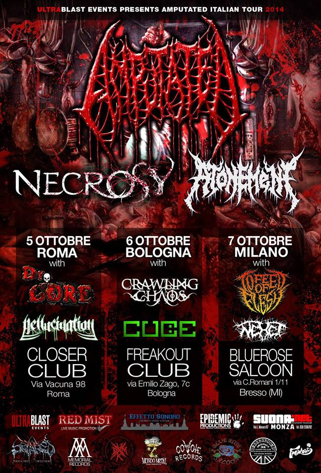 amputated italian tour con necrosy e atonement