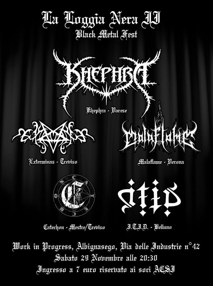 La Loggia Nera Black Metal Fest Padova