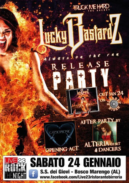 Lucky Bastardz - release party 24 gennaio