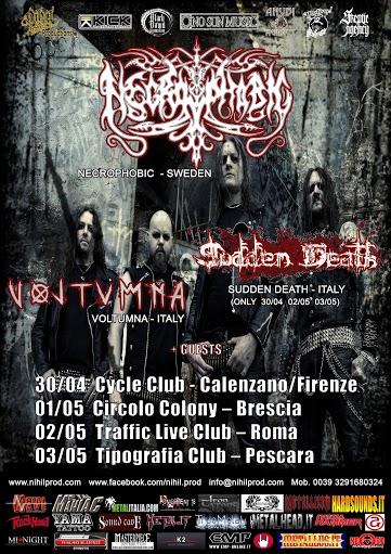 Necrophobic italian tour