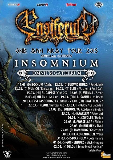 Ensiferum - One man army tour
