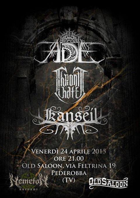 ADE + Chronic Hate + Kanseil 24 Aprile 2015