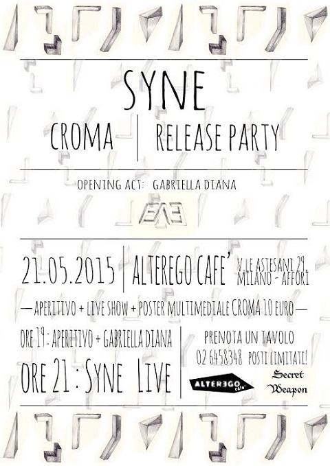 Locandina Release Party di Croma