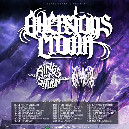 Aversions Crown tour 2016