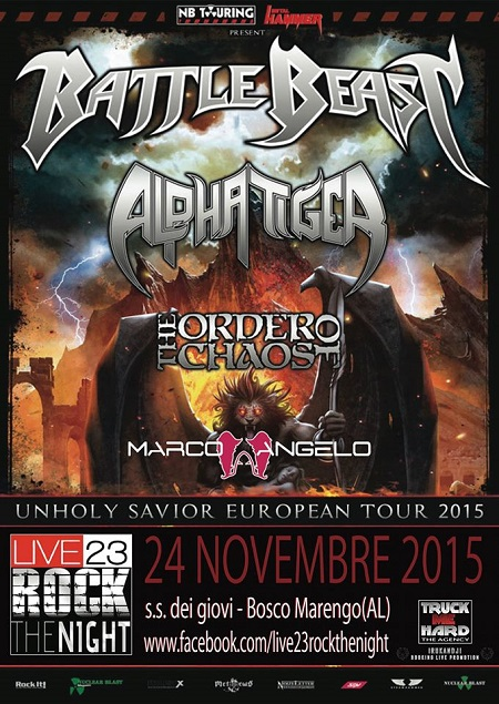 BATTLE BEAST + ALPHA TIGER + THE ORDER OF CHAOS + MARCO ANGELO