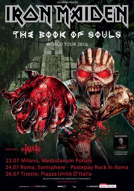 Iron Maiden live Italia 2016