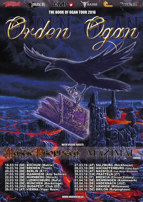 Orden Ogan tour 2016 Manimal