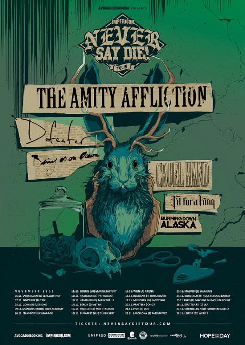 The Amity Affliction  Defeater  Being As An Ocean  Cruel Hand  Fit For A King Burning Down Alaska