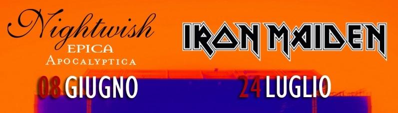 Rock In Roma Iron Maiden Nightwish Epica