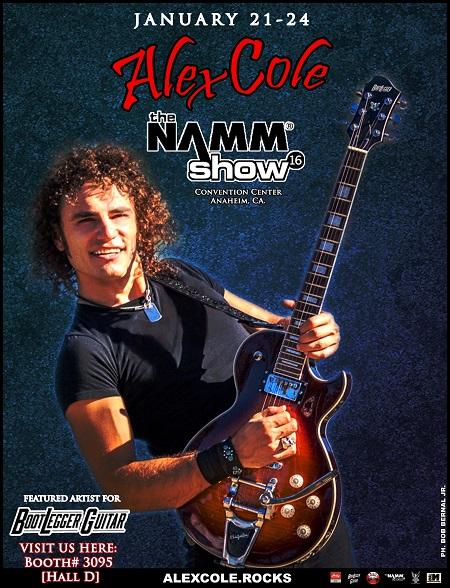 Alex Cole - Namm Show '16 Flyer