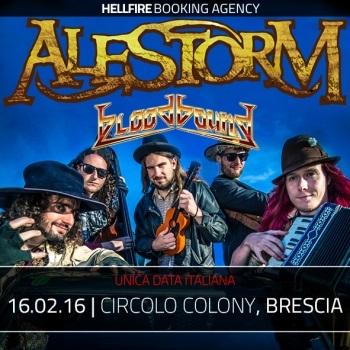 ALESTORM + BLOODBOUND + SAILING TO NOWHERE CIRCOLO COLONY Brescia