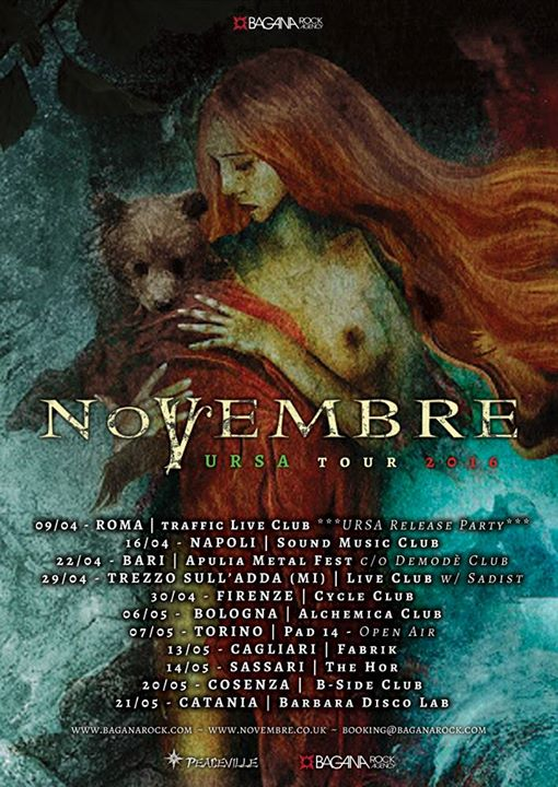 NOVEMBRE - URSA TOUR 2016