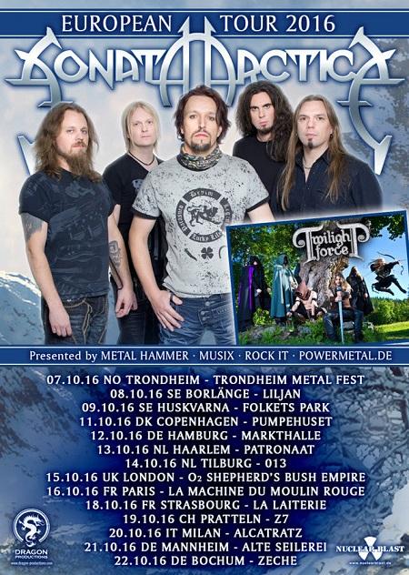 SONATA ARCTICA tour 2016