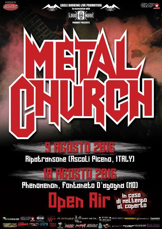 Metal Church Italy promo web