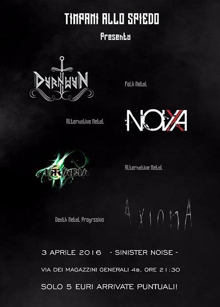 Serata metal Sinister Noise Roma