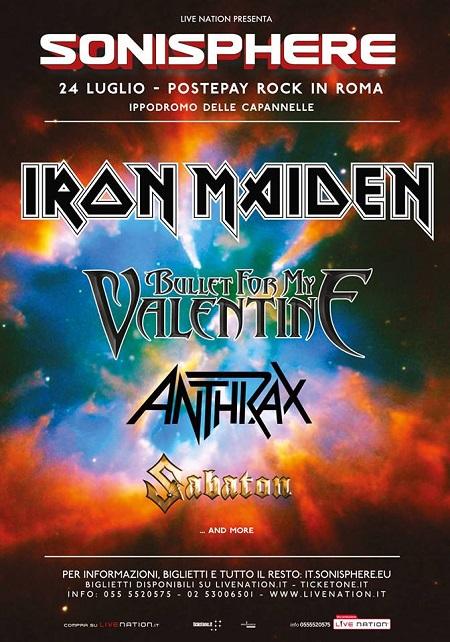 Sonisphere 2016 Iron Maiden Anthrax Bullet Valentine Sabaton