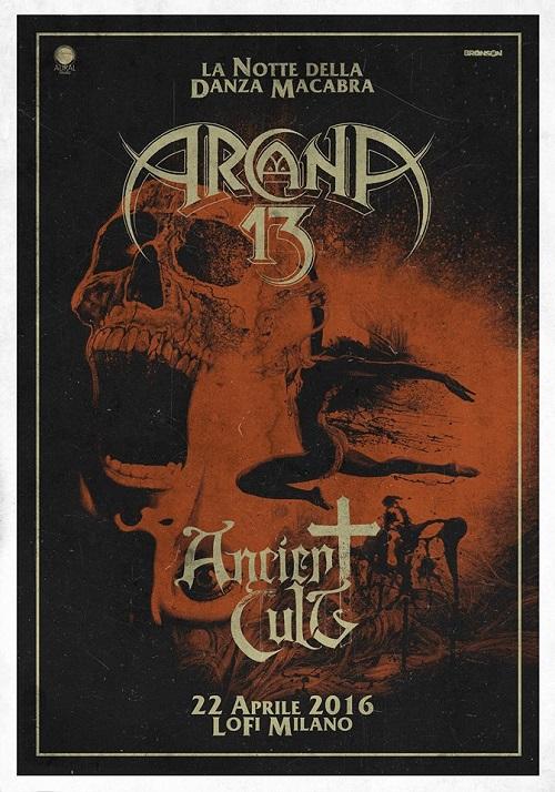 Ancient Cult opening act degli Arcana 13 al Lo Fi di Milano