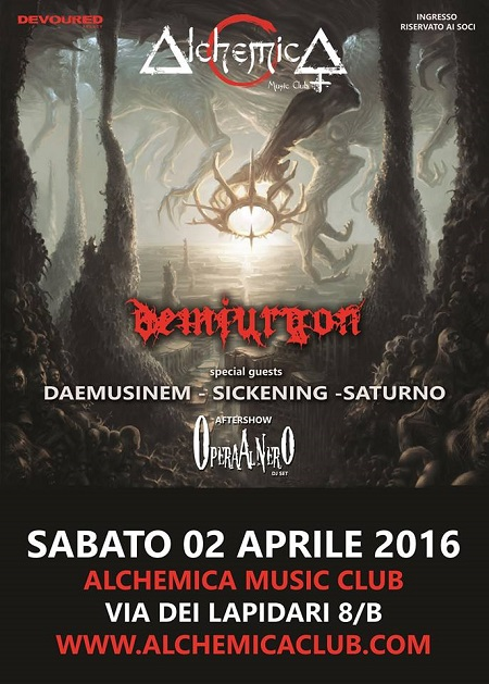 DEATH METAL NIGHT_Demiurgon_Daemusinem_Sickening_Saturno