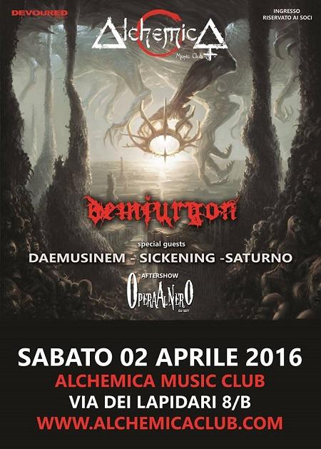 DEATH METAL NIGHT_Demiurgon_Daemusinem_Sickening_Saturno