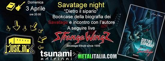 Tsunami Edizioni Savatage Night