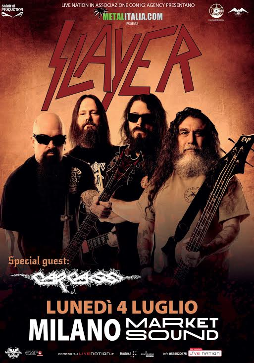 slayer carcass milano 2016 promo web