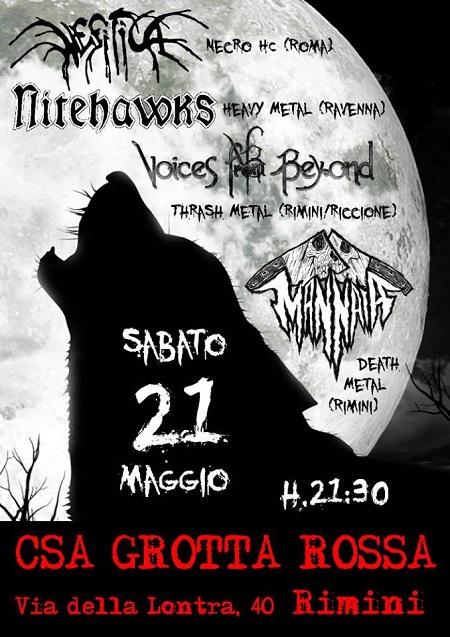 Mannaia live Grotta Rossa Rimini