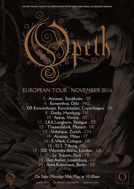 Opeth Italia 2016