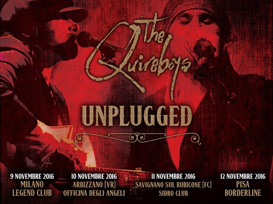 THE QUIREBOYS - Tour unplugged