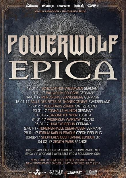 Epica Powerwolf tour 2017