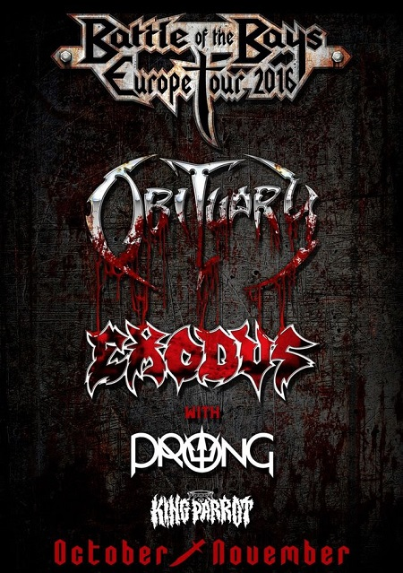 Exodus Obituary 2016 tour