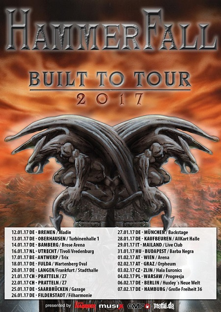 HAMMERFALL ANNOUNCE EUROPEAN TOUR DATES