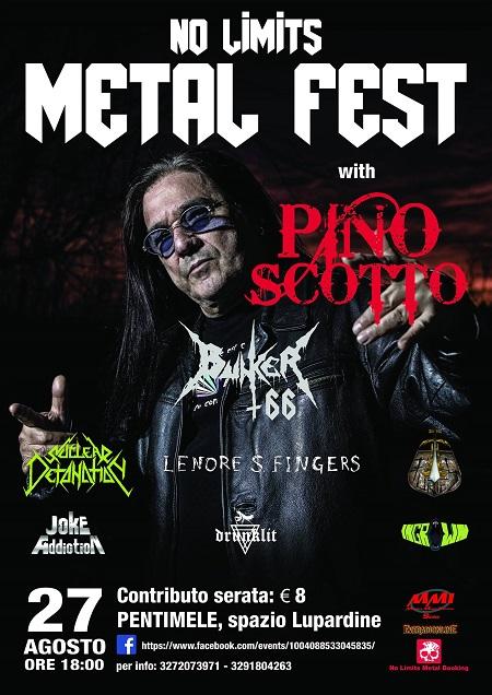 NO LIMITS METAL FEST con Pino Scotto