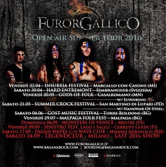 Furor Gallico Summer Tour 2016