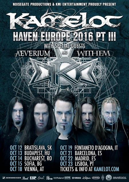 Kamelot tour 2016