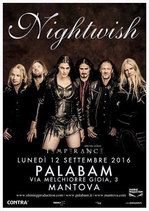 Nightwish Temperance Mantova 2016