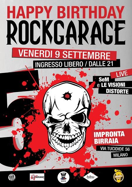 RockGarage locandina 9 set 2016
