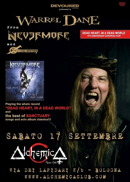 WARREL DANE – Nevermore - Sanctuary Bologna