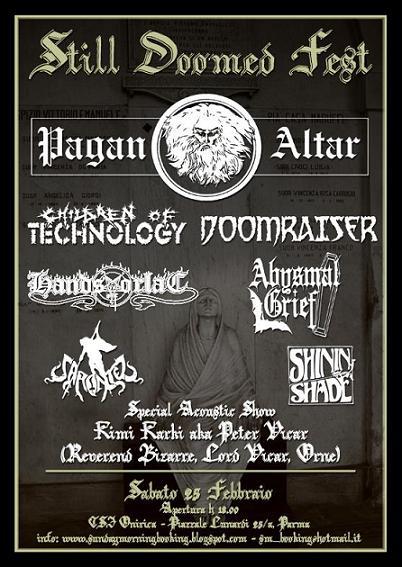 Live report Still Doomed Fest - Pagan Altar - Parma
