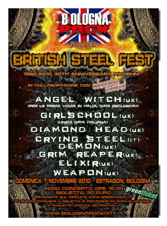 Live report British Steel Fest - Angel Witch, Diamond Head, Crying Steel, Girlschool, Demon, Grim Reaper, Elixir