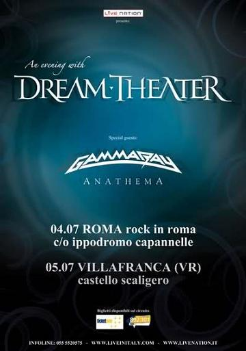 Live report Dream Theater, Gamma Ray, Anathema - Castello di Villafranca, VR