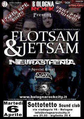 Live report Flotsam and Jetsam, Neurasthenia, Bologna
