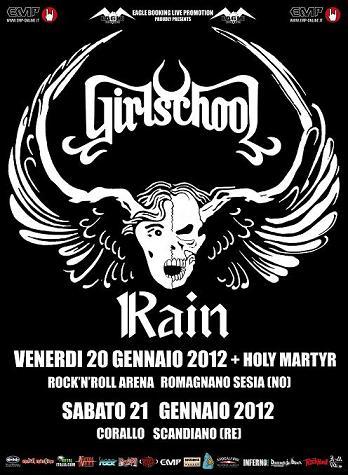 Live report Girlschool + Rain - Reggio Emilia