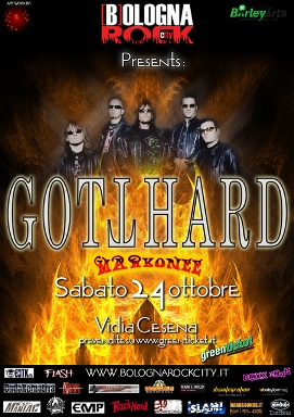 Live report Gotthard + Markonee, Vidia Club, Cesena