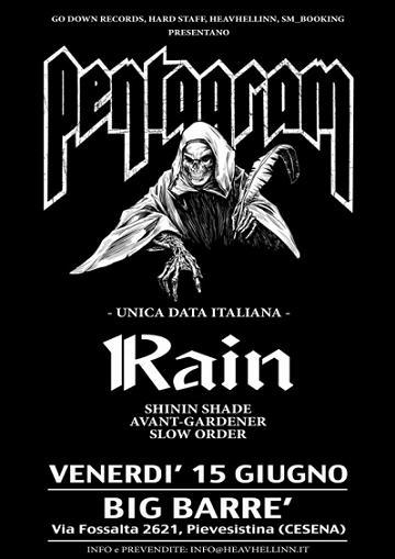 Live report Pentagram + Rain - Big Barrè, Cesena